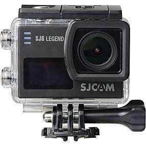 Недорогие Видеорегистраторы для авто-SJCAM SJCAM SJ6LEGEND 2160P RAW / Загрузочная автоматическая запись / Цифровой зум Автомобильный видеорегистратор 165 градусов Широкий угол КМОП-структура 2 дюймовый IPS Капюшон с WIFI / 2.0