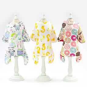 economico Prodotti Per Animali-Gatto Cane T-shirt Cosplay Matrimonio Abbigliamento per cani Giallo Chiaro Bianco Giallo Costume Cotone S M L XL XXL