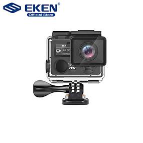 """Недорогие Видеорегистраторы для авто-Eken H5S Plus Экшн-камера HD 4K 30 кадров в секунду EIS с Ambarella A12 внутри 30 м водонепроницаемый 2,0 """"сенсорный экран спортивная камера автомобильный видеорегистратор"""