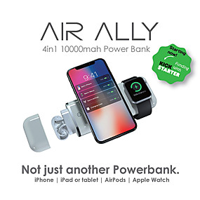 povoljno Banka s bežičnim punjačem-airalno jabuka 4-u-1 10000mah snaga rješenje.iphone airpods ipads i apple watch sve naboje u jednom mobilnom uređaju.