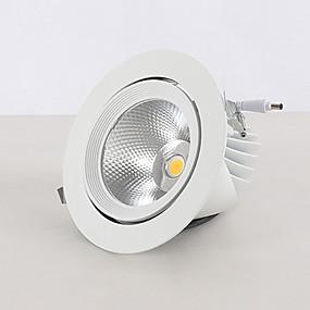 Недорогие Даунлайт-светодиодный потолочный светильник слоновий нос 12 Вт освещение потолочный светильник 360 поворотный потолочный светильник