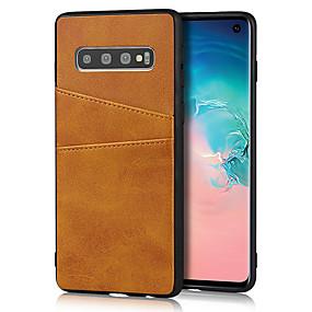 olcso Galaxy S9 Plus tokok-Case Kompatibilitás Samsung Galaxy S9 / S9 Plus / S8 Plus Kártyatartó Fekete tok Egyszínű PU bőr