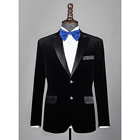 levne Vlastní Tuxedo-černý sametový smoking