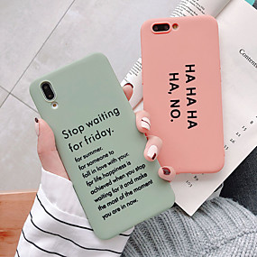 cheap Huawei Honor Cases / Covers-Case For Huawei Huawei Nova 4 /P20 /P20 Pro /p30pro/p30/mate20/mate20pro/mate10/honor20/Nova3/honor v10 Dustproof / Ultra-thin / Frosted Back Cover Word / Phrase / Solid Colored TPU