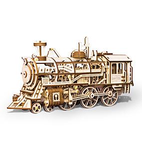 povoljno Igračke i razonoda-3D puzzle Drvene puzzle Train simuliranje Ručno izrađeni drven 349 pcs Dječji Odrasli Sve Igračke za kućne ljubimce Poklon