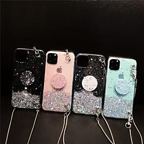 economico Acquista per Modello di telefono-Custodia Per Apple iPhone 11 / iPhone 11 Pro / iPhone 11 Pro Max Supporto ad anello / Fantasia / disegno / Glitterato Per retro Glitterato TPU