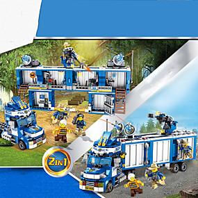 ราคาถูก โมเดลและตึกของเล่น-Building Blocks บล็อกทางทหาร Playsets ยานพาหนะ 707 pcs ที่เข้ากันได้ Legoing การจำลอง รถตำรวจ ทั้งหมด Toy ของขวัญ / สำหรับเด็ก / ของเล่นการศึกษา