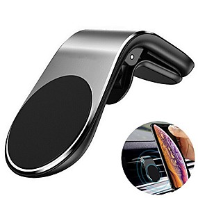 cheap Car Organizers-Metal Magnetic Car Phone Holder Mini Air Vent Clip Mount Magnet Mobile Stand For iPhone XS Max 11Pro Xiaomi SAMSUNG Galaxy Note10 Smartphones