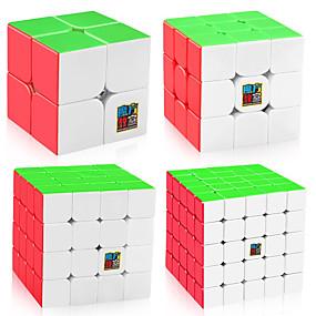 olcso Játékok & hobbi-4 db Magic Cube IQ Cube MoYu Sudoku Cube Sudoku Cube 2*2*2 3*3*3 4*4*4 5*5*5 Sima Speed Cube Rubik-kocka Puzzle Cube Átlátszó matrica Stressz és szorongás oldására Klasszikus Gyerekek Felnőttek