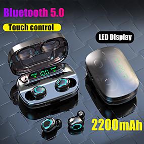 povoljno Bežični stil-litbest s11 tws istinske bežične ušice bluetooth 5.0 slušalice 2200mah mobilne snage za pametni telefon zaslon osjetljiv na dodir touch control ipx5 vodootporne sportske slušalice za fitness
