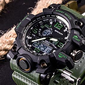 Недорогие Фирменные часы-SANDA Муж. Спортивные часы Смарт Часы Наручные часы Цифровой Мода Защита от влаги силиконовый Черный / Белый / Коричневый Аналого-цифровые - Черный Красный Оранжевый Два года Срок службы батареи
