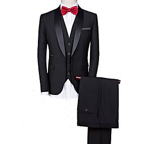 levne Vlastní Tuxedo-černá směs vlastní smokingu