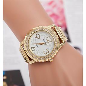 저렴한 쿼츠 시계-여성용 석영 캐쥬얼 패션 실버 골드 합금 석영 골드 실버 뉴 디자인 캐쥬얼 시계 홀딱 반할 만한 아날로그