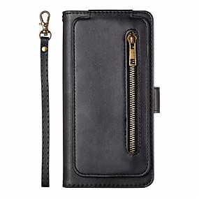 Недорогие Чехлы и кейсы для Galaxy Note 8-Кейс для Назначение SSamsung Galaxy S9 / S9 Plus / S8 Plus Бумажник для карт / Флип Чехол Однотонный Кожа PU
