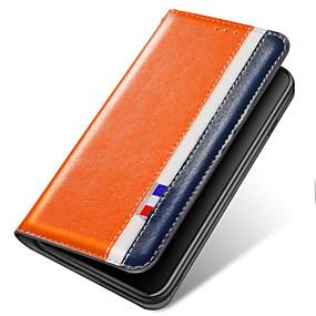 Недорогие Чехлы и кейсы для Galaxy J3(2017)-Кейс для Назначение SSamsung Galaxy S9 / S9 Plus / S8 Plus Бумажник для карт / Защита от удара / со стендом Чехол Однотонный Кожа PU / ТПУ