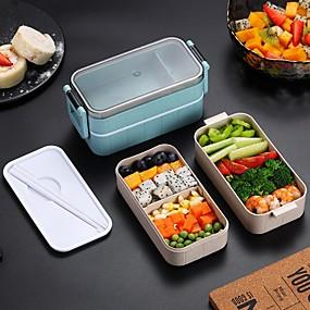 olcso Tárolás és rendszerezés-Japán mikrohullámú ebéd doboz rekesz szivárgásmentes bento doboz tanuló gyerekeknek iskolai ételek tartályához