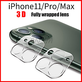 cheap iPhone 11 Pro Screen Protectors-1Pcs Fully Transparent Film For iPhone 11 3D Full Cover Back Camera Lens Screen Protector for iPhone 11 Pro Max Tempered Glass Case