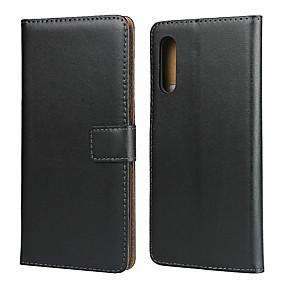 olcso Galaxy S9 Plus tokok-Case Kompatibilitás Samsung Galaxy S9 / S9 Plus / Galaxy S10 Kártyatartó / Ütésálló Fekete tok Egyszínű PU bőr
