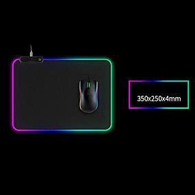 povoljno Podloga za miš-podloga za igranje miša velike veličine šarene svjetleće za pc desktop desktop 7 boja led light desk mat gaming tipkovnica