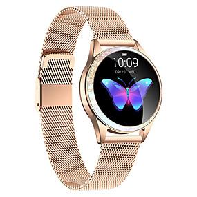 levne Chytré náramky-kw20 z nerezové oceli smartwatch bluetooth fitness tracker s bezdrátovými sluchátky pro samsung / ios / android telefony