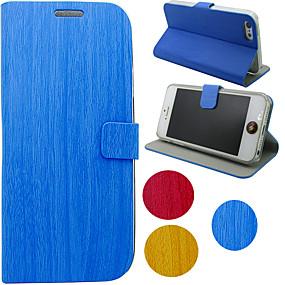Недорогие Чехлы и кейсы для Galaxy Note 2-Кейс для Назначение SSamsung Galaxy S4 / S3 / Note 3 со стендом / Флип Чехол Однотонный / Мрамор Кожа PU