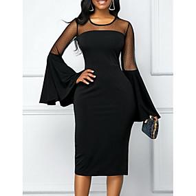 povoljno Novo u ponudi-Žene Crn Haljina Elegantno Korice Jednobojni S M