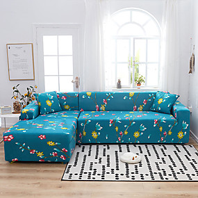 povoljno Tekstil za dom-cvijeće i biljke otisnute protiv prašine, svemoćni navlake za kauče, super kauč presvlaka za presvlake od tkanine s jednom besplatnom jastučnicom