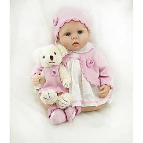 povoljno Igračke i razonoda-NPKCOLLECTION Autentične bebe Za ženske bebe 22 inch vjeran Dar Umjetna implantacija Plave oči Dječjom Djevojčice Igračke za kućne ljubimce Poklon