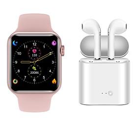 tanie Inteligentne opaski na rękę-Monitor aktywności fizycznej smartwatch v6 Bluetooth 5.1 z bezprzewodowymi słuchawkami obsługuje tętno EKG + PPG / pomiar ciśnienia krwi dla telefonów Apple / Samusng / Android