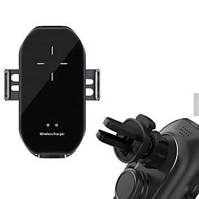 Недорогие Автомобильные зарядные устройства-A7 горячие продажи последние инфракрасный датчик авто клип мобильный телефон 10 Вт беспроводное автомобильное зарядное устройство беспроводной зарядки держатель мобильного телефона