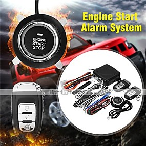 voordelige Auto-alarmen-9 stks / set Auto SUV Keyless Entry Push Start Systeem Motor Startknop Alarmsysteem Drukknop Afstandsbediening Start Stop Auto voor Volkswagen Audi
