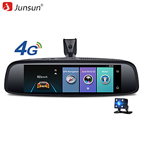 Недорогие Видеорегистраторы для авто-junsun k756 2g 32g автомобиль специальное зеркало dvr камера 4g android 7.84 adas bluetooth full hd 1080p видеорегистратор видеорегистратор зеркало заднего вида