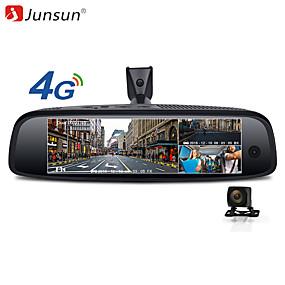 Недорогие Видеорегистраторы для авто-junsun k757 2g 32gb 3-канальный автомобильный видеорегистратор adas 4g android-зеркало заднего вида fhd 1080p специальный кронштейн для автоматической камеры видеорегистратора