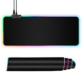 povoljno Miševi i tipkovnice-podloga za igranje miša velike veličine šarene svjetleće za pc desktop desktop 7 boja led light desk mat gaming tipkovnica