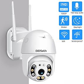 halpa Turvallisuus-didseth hd 1080p 2 mp wifi mini ptz ip kamera ulkona langaton cmos zoom nopeus kupoli CCTV vedenpitävä pimeänäkö turvakamera onvif 2mp ai kaksisuuntainen ääni kodinvalvontakamera