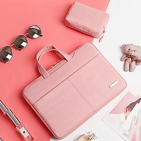 halpa Läppärilaitteet-muoti kannettava tietokone laukku macbook air pro 14 15 15,6 tuuman kangas pc kannettavan tietokoneen kannettavan hihassa käsilaukku naisen tietojenkäsittely laukku on yksi pieni mukauttaa laukku