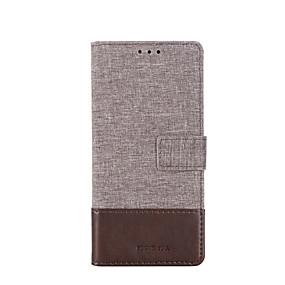 رخيصةأون Galaxy A7(2017) أغطية / كفرات-غطاء من أجل Samsung Galaxy S9 / S9 Plus / S8 Plus حامل البطاقات / ضد الصدمات غطاء كامل للجسم لون سادة جلد PU