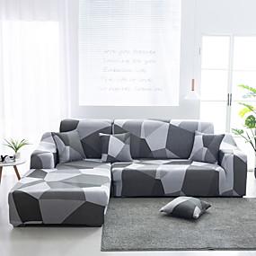 tanie Tekstylia domowe-geometria drukuj pyłoszczelne rozciągliwe narzuty rozciągliwe pokrycie sofy super miękka tkanina na pokrycie kanapy (dostaniesz 1 rzut poszewki na poduszkę jako bezpłatny prezent)