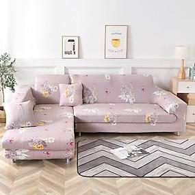 povoljno Tekstil za dom-cvjetni otisci otporni na prašinu, svemoćni navlake kauča super mekani poklopac kauča od tkanine s jednom besplatnom jastučnicom