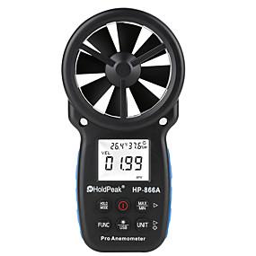 povoljno Testeri i detektori-hp-866a 0,3 ~ 40m / s anemometar mjerač brzine vjetra prijenosni mjerač protoka zraka usb sučelje ručno -10 ~ 60'c test temperature