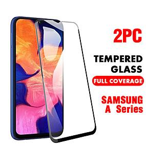 povoljno Zaštitne folije za Samsung-SamsungScreen ProtectorSamsung Galaxy A20 (2019) Visoka rezolucija (HD) Prednja zaštitna folija 2 kom Kaljeno staklo