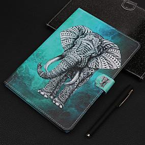 Недорогие Чехол для планшета Huawei-Кейс для Назначение Huawei MediaPad Huawei Mediapad T5 10 Бумажник для карт / Защита от удара Чехол Пейзаж / Мультипликация ТПУ