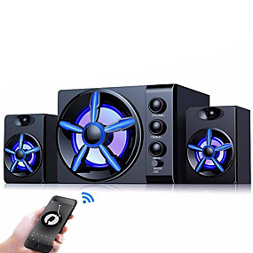 cheap Speakers-Bluetooth Speakers Built-in Colorful LED 2.1 3 Channel Subwoofer Speaker USB Power Computer MP3 Cellphone Speakers