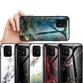Недорогие Чехлы и кейсы для Galaxy J5-Кейс для Назначение SSamsung Galaxy S9 / S9 Plus / S8 Plus Защита от удара / Защита от пыли / Ультратонкий Кейс на заднюю панель Мрамор Закаленное стекло
