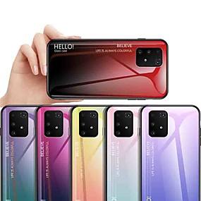 Недорогие Чехлы и кейсы для Galaxy J5-Кейс для Назначение SSamsung Galaxy S9 / S9 Plus / S8 Plus Защита от удара / Защита от пыли / Ультратонкий Кейс на заднюю панель Градиент цвета Закаленное стекло