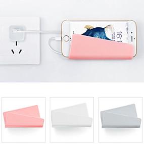 billige Ved sengen-vægmonteret mobiltelefon vægoplader adapter opladningsholder hængende stativ beslag understøtter opladningsophæng rack hylde mobiltelefon krog