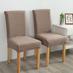 tanie Tekstylia domowe-Pokrowiec na krzesło Solidne kolory Żakard Poliester Slipcovers