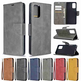 cheap Shop by Phone Model-Case For Samsung Galaxy S20 / S20 Plus / S0 Ultra Wallet / Card Holder / with Stand Full Body Cases Solid Colored PU Leather / TPU for A71 / A51 / A20s / A10s / A70 / A50 / A30S / Note 10 Plus
