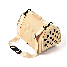 cheap Pet Supplies-Cat Dog Carrier Bag & Travel Backpack Shoulder Messenger Bag Portable Casual / Daily Fabric Yellow