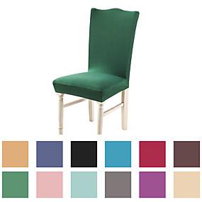 baratos Têxteis Para a Casa-Sólido básico muito macio tampa da cadeira estiramento removível lavável protetor de cadeira de sala de jantar slipcovers decoração de casa sala de jantar tampa de assento